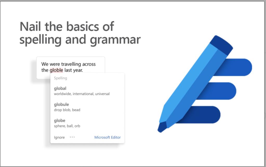 Microsoft Editor advertising image